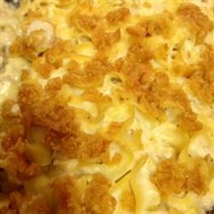 Chicken Noodle Casserole I - this came together fast and only took 30 minutes to bake.  My picky kids loved it!  The Ritz cracker topping really makes this recipe.