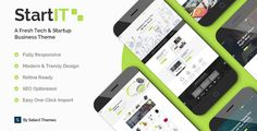 Buy Startit - Fresh Startup Business Theme by Select-Themes on ThemeForest. Welcome to Startit, the ideal choice for anyone looking for a tech theme streamlined for their startup, software or . Texture Web, Types Of Technology, Slider Images, Design Typography, Create Your Website, Photoshop, Website Themes, Website Designs, Building A Website