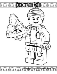 Jurassic World Lego Coloring PagesFree