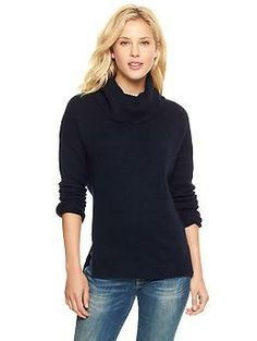 Cowlneck sweater | Gap Navy Medium