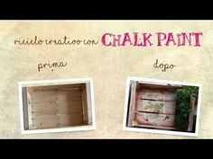 how to decorate a fruit box Chalk Paint Tutorial, Shabby Chic, Home Projects, Wood Crafts, Make It Simple, Decoration, Decoupage, Creations, Box