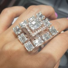 Extraordinary Cocktail Ring by - Diamond Jewelry Designs 2019 Jewelry Accessories Jewelry Model, High Jewelry, Jewelry Box, Jewelry Accessories, Women Jewelry, Jewellery, Diamond Rings, Diamond Jewelry, Jewelry Design Drawing