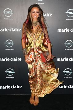 Camilla Franks Photos - Camilla Franks arrives at the 2013 Prix de Marie Claire Awards at the Star on March 2013 in Sydney, Australia. - Celebs at the Prix de Marie Claire Awards Fashion Sewing, Boho Fashion, Fashion Outfits, Boho Look, Bohemian Style, Marie Claire, Camilla Kaftan, Gypsy Chic, Boho Chic