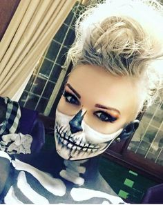 Half Skull makeup face paint