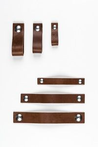 Chesnut | leather handle #leather cabinet pulls handle #Nu shop