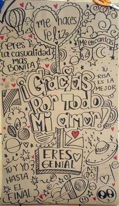 Ideas en imagenes y dibujos para cartas de amor Love Gifts, Diy Gifts, Amor Ideas, Love Messages, Love Letters, Boyfriend Gifts, Graffiti, Diy And Crafts, Love Quotes