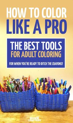 Seriously upgrade your coloring and learn how to color like a pro by figuring out the best tools for adult coloring! This guide tells you which art supplies to use for which grown-ups colouring pages and books, including lots of tips, examples, and guidan Coloring Tips, Adult Coloring Pages, Coloring Books, Coloring Pages For Grown Ups, Colored Pencil Tutorial, Colored Pencil Techniques, Vincent Van Gogh, Colouring Techniques, Drawing Techniques