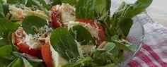 Mozzarella mit Tomate und Feldsalat | Vegetarische Gerichte zum Abnehmen von Almased