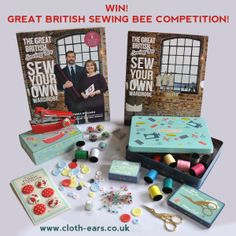 Repin, Like & Comment To Win Our Great British Sewing Bee Competition! Full terms & conditions will be on tomorrows blog post. www.cloth-ears.co.uk/blog #GBSB #GBSBcomp2 #competition #vintage #crafts #sew