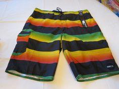 O'Neill swim trunks board shorts boardshorts surf skate 38 Mens Santa Cruz Rasta…