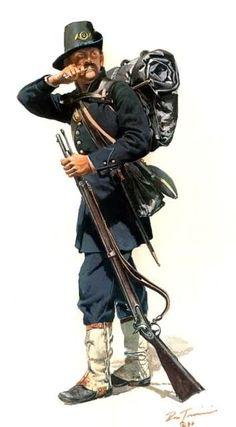 1862 - 2nd Wisconsin Volunteer Infantry - Iron Brigade - Don Troiani.