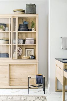 8 Unique Online Home Shops You May Not Know About (But Should!) – 10 Black and White Homes That are the Epitome of Chic - Plywood Cabinets, Cupboard Storage, Furniture Sale, Solid Oak, Home Textile, Home Furnishings, Home Accessories, Home Goods, Bed Pillows