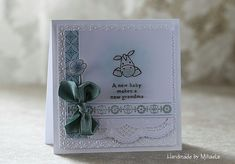 Handmade by Mihaela: Baby card- EC0170 stamp