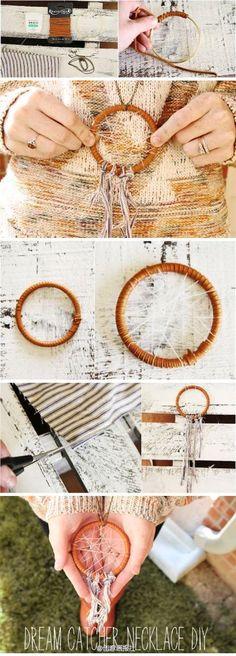 DIY Dream Catcher Necklace   DIY Fun Tips