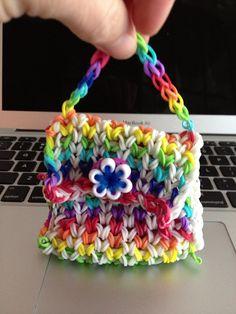 Rainbow loom purse