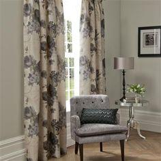 <3 Catherine Lansfield Plumo, Pencil Pleat Curtains