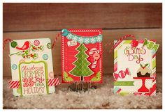 Holiday Tags from Happy Holidays Mini Theme. #echoparkpaper