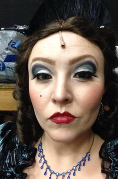 This was my Evil Stepmother makeup for Into The Woods.  It was very effective on stage and got lots of compliments.  - Nann Palmer