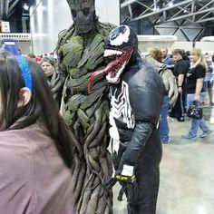 My venom costume at planet Comic Con Kansas City 2015
