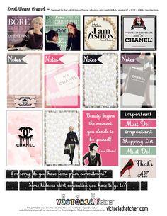 Free Planner Printable: Devil Wears Chanel :)