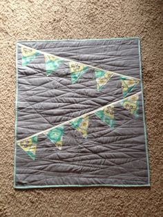 Modern bunting quilt by Nooches on Etsy, $70.00