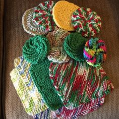 Scrubbies and washcloths - Crochet creation by Shirley