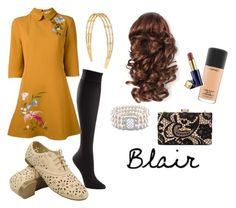 """""""Blair Waldorf Thanksgiving Outfit #5"""" by waldorf-designs ❤ liked on Polyvore featuring TravelSmith, VIVETTA, Ice, MAC Cosmetics, Estée Lauder, Henri Bendel and Love Moschino"""
