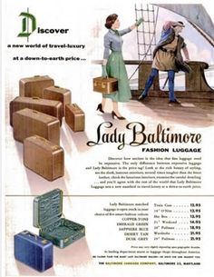 lady baltimore fashion luggage