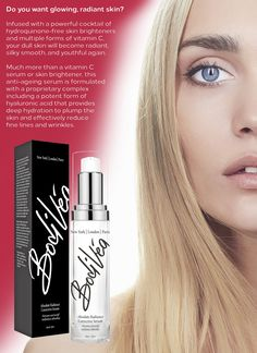 BodiVéa Absolute Radiance Corrective Serum – A potent formula of natural skin brighteners, vitamins and antioxidants that work together to even out skin tone while hydrating the skin and minimising fine lines.  Are you ready for youthful, dewy and radiant skin?  FREE SHIPPING!  On sale for a limited time, $62