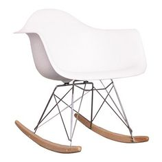 Eames Inpsired Rocking Chair, White