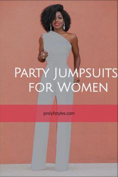 Girl1The party doesn't start with you! Make an entrance this cute white jumpsuit with one shoulder and wide leg. Accessorize this classy party outfit with your stiletto and jewelry for a trendy party look. A stylish jumpsuit is a one piece trend that is here to stay. Turn heads in the kick ass jumpsuit a classy going out outfit for women styles. Shop Party Fashion Now at ProLyf Style - The Fashion Lifestyle Centre. Women Party Wear Classy Party Outfit, Classy Going Out Outfits, Classy Outfits, Jumpsuits For Women Formal, Formal Wear Women, Jumpsuit Dressy, White Jumpsuit, Party Fashion, Women's Fashion