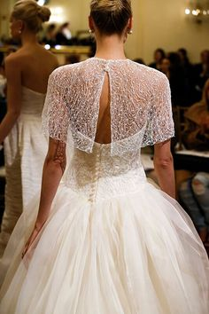 Wedding gown by Peter Langner.