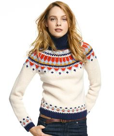 HANDKNIT FAIR ISLE SWEATER  I feel like this is a sweater you can were during the holidays to be festive, but you could also wear it in February to be cute and warm!