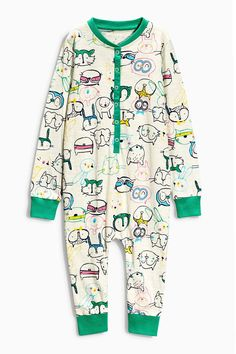 Buy Cream All Over Print Sleepsuit (12mths-8yrs) from the Next UK online shop