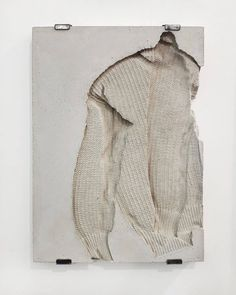 Sweater and concrete work by Marie Lund. I prefer the backpack series but I think I've already posted all of them Contemporary Sculpture, Contemporary Art, Modern Art, Instalation Art, Fabric Photography, Textiles, Sculpture Art, Concrete Sculpture, Art Inspo