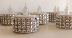 Flameless LED Tealight Silver Bling Rhinestone by TheDeevaShop