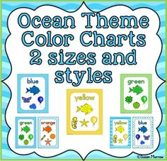 Ocean Theme Color Posters