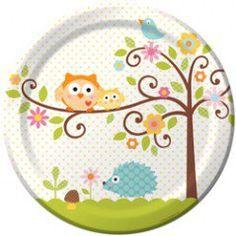 Happi Tree Dinner Plates - 9in (8 Pack)