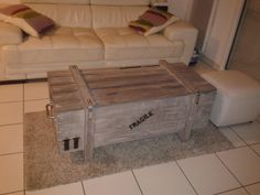 PALLET TRUNK AND COFFEE TABLE