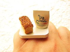 Miniature  Food Ring Mozzarella Cheese Bread by SouZouCreations, $12.00