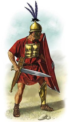 Hastati were a class of infantry in the armies of the early Roman Republic who originally fought as spearmen, and later as swordsmen. These soldiers were the staple unit after Rome threw off the Etruscan rule.