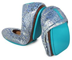 Paradise Blue Tieks - love them! These are the ones I chose with my Tieks coupon code from Stella.