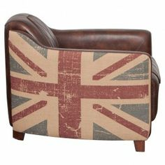 Leather Union Jack Chair