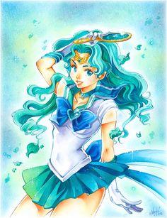 Sailor Neptune | by Naschi @ DeviantART.com // #sailormoon