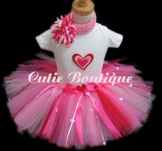 Valentine Outfit Set With 3D Heart  And by CutiesBoutique on Etsy, $48.99