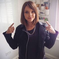 essie button's medium haircut. Something that I would like to try