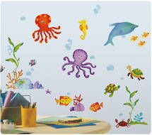 marine themed decals for kids