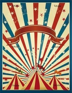 vintage circus poster by Juca
