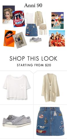 """""""anni 90"""" by mazzagliadavide on Polyvore featuring moda, MANGO, WithChic, Converse e Marc Jacobs"""