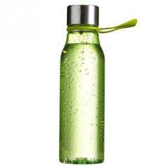 Waterfles Lean Groen  Een Tritan waterfles of bidon gemaakt van BPA-vrij kunststof met een roestvrijstalen dop. Door de lus aan het deksel is de fles handig mee ne nemen of eenvoudig aan bijvoorbeeld een hometrainer of een ander fitness-toestel te hangen. Daarnaast past de fles in de meeste bekerhouders van auto's en is eenvoudig schoon te maken. Geschikt om te bedrukken op de fles of om te lasergraveren op de dop. Leverbaar in drie verschillende kleuren. Inhoud: 570 ml.